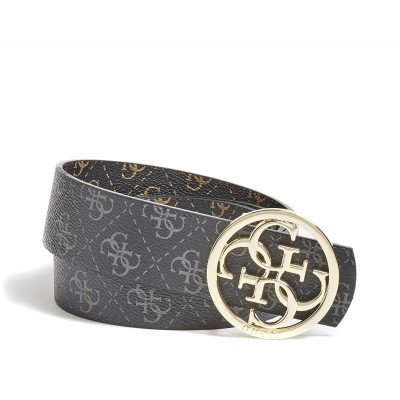 Guess Belt Reversible Tyren 4G Logo-Brown Multi/Black Multi