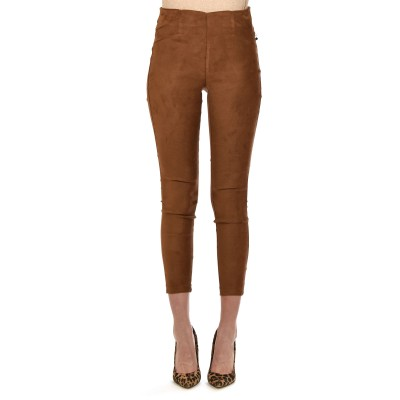 Rina Scimento Trousers Suede Skinny-Tabaco Brown