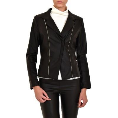 Rina Scimento Leather Jacket Giacca-Black