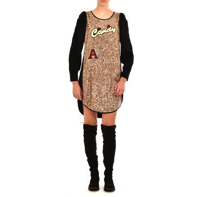 Rina Scimento Dress Sequins & Marks-Black/Gold