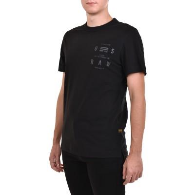 G-Star Raw T-Shirt Back Graphic Logo-Dark Black