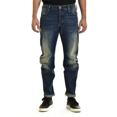 G-Star Raw Jeans Arc 3D Slim Wokkie Artwork-Antic Faded Baum Blue
