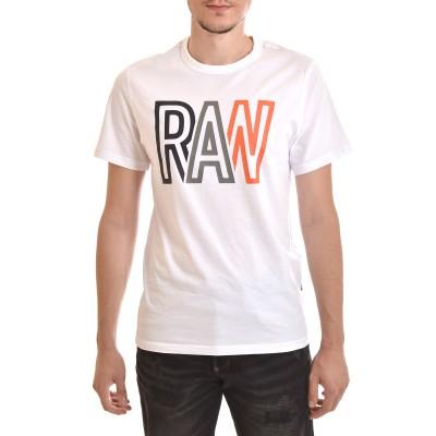 G-Star Raw T-Shirt Raw Print-White