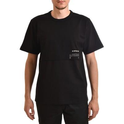 G-Star Raw T-Shirt Mercerised C&S Loose-Dark Black
