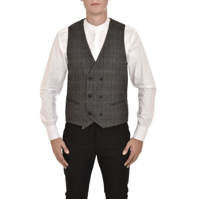 Vittorio Vest Funk Checked-Anthracite