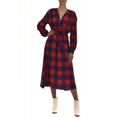 We_Are Dress Gingham Check-Blue/Red