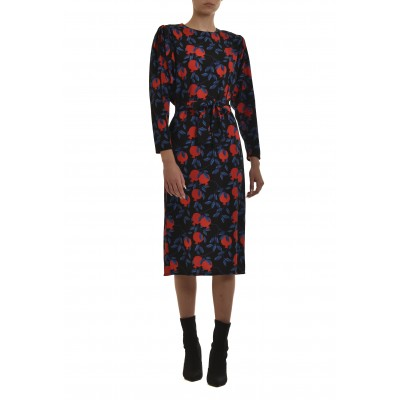 We_Are Dress Batwing Sleeves Pomegranates-Black