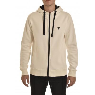 Vittorio Sweatshirt Hooded Zip-Ecru