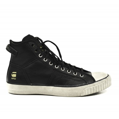 G-Star Raw Shoes High-Top Scott III HI LTHR-Black