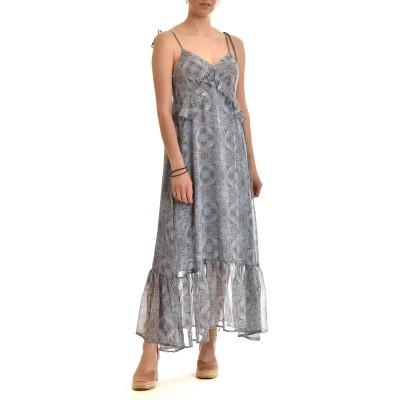 Nekane Dress Long Patterned All Over-Sky