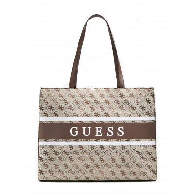 Guess Shopper Bag Monique 4 Logo Mini-Brown