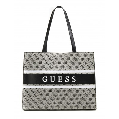 Guess Shopper Bag Monique 4 Logo Mini-Grey Multi/Coal