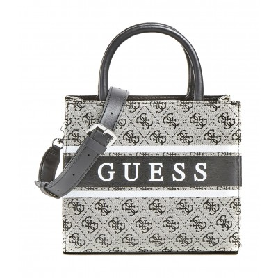 Guess Shopper Bag Mini Monique 4 Logo Mini-Grey Multi/Coal