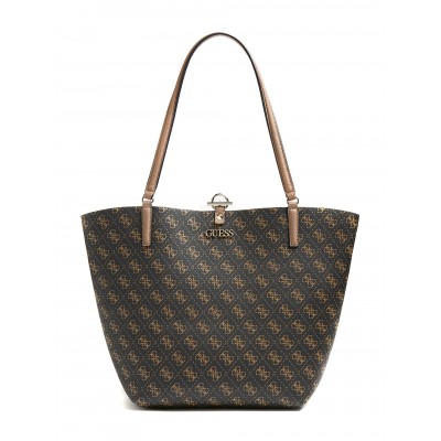 Guess Shooper Bag Alby 4G Logo-Brown Logo/Mocha