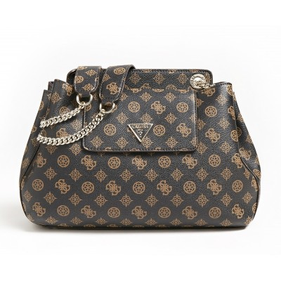 Guess Shoulder Bag Sadrine Logo-Brown/Mocha