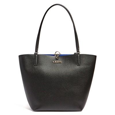 Guess Shopper Bag Alby Pochette-Black Multi/Blue Royal