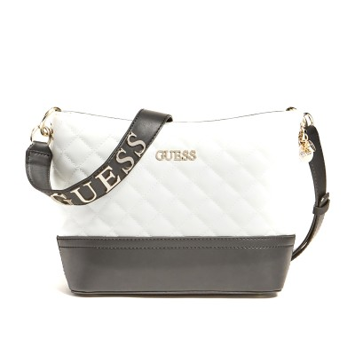 Guess Shoulder Bag Illy Quilted-White Multi