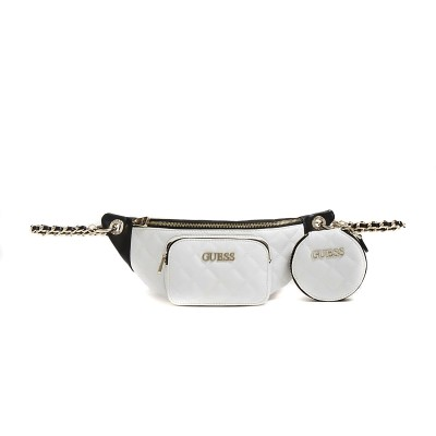 Guess Belt Bag Illy Quilted-White/Black