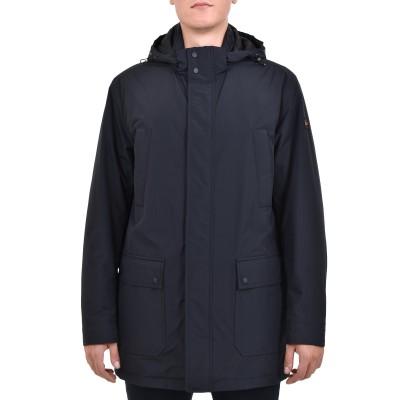 Paul & Shark Jacket Woven 3/4 With Hood-DK Blue