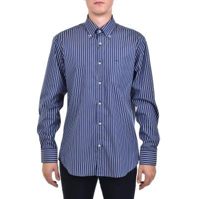 Paul & Shark Shirt Woven Striped-White/Blue