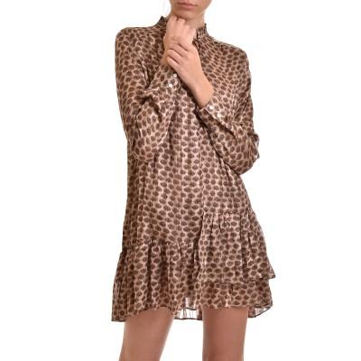 Nekane Dress Pietra Ruffle Asymmetric-Sand