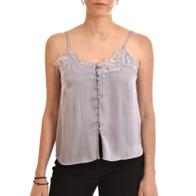 Nekane Top Lingerie With Lace & Buttons-Malva