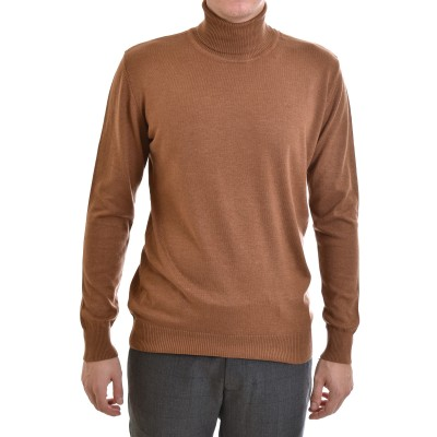 Vittorio Knitted Blouse Turtleneck-Tabac