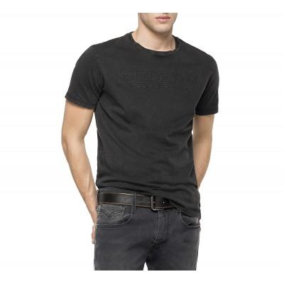 Replay T-Shirt Cotton Jersey-Blackboard