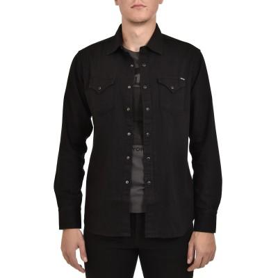 Replay Shirt Denim With Vintage Effect-Black