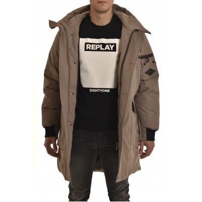 Replay Jacket Long-Wood Grey