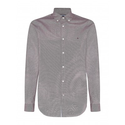 Tommy Hilfiger Shirt Slim Fit Houndstooth-Deep Rouge
