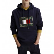 Tommy Hilfiger Hoody Icon Badge Logo Embroidery-Desert Sky