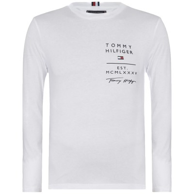 Tommy Hilfiger Blouse WCC Logo List-White