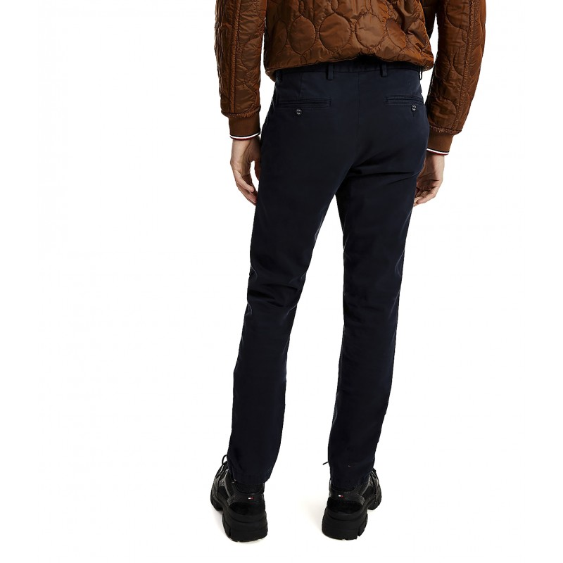 Tommy Hilfiger Pants Chino GMD Bleecker TH Flex Satin-Desert Sky