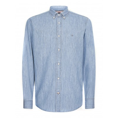 Tommy Hilfiger Shirt Light Denim-Light Indigo