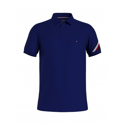 Tommy Hilfiger Polo Sleeve Tape Detail Slim Fit-Yale Navy