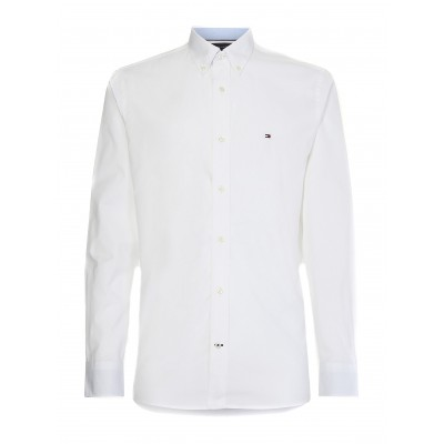 Tommy Hilfiger Shirt Natural Soft Poplin-White
