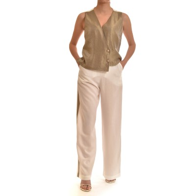 Lotus Eaters Wild Pants With Gold Stripe-Off White
