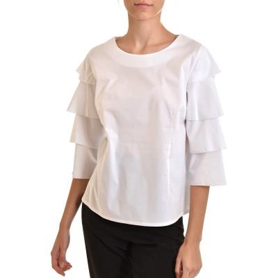 Pontoni Blouse Frill Sleeves-White