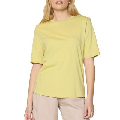Innocent T-Shirt With Shoulder Pads-Light Green