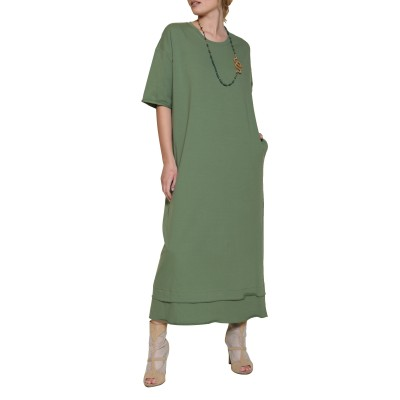 Innocent Sweat Dress-Khaki