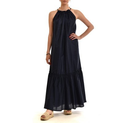 Milla Dress Maxi With Lanyard-Dark Blue