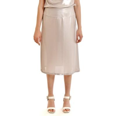 Lotus Eaters Skirt Sanas Metallic-Silver