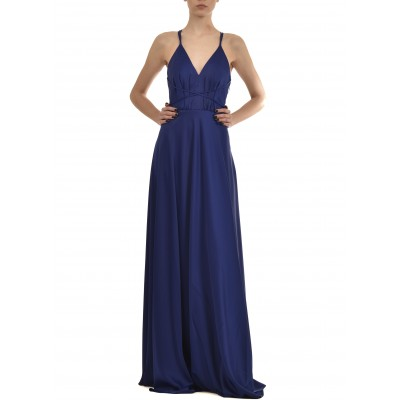Twins Fantasy Dress Satin Maxi-Blue