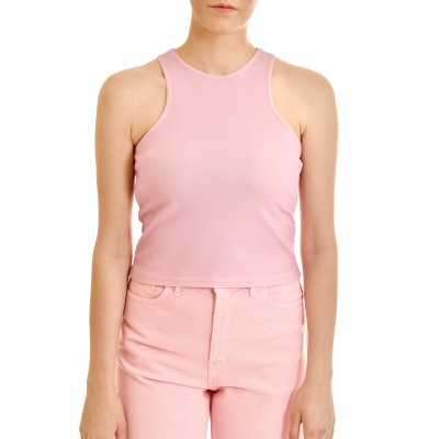 Milkwhite Crop Top-Pink