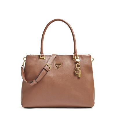 Guess Shoulder Bag Destiny Strap-Cognac(Brown)