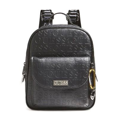 Guess Backpack Lane Debossed Logo Maxi-Black