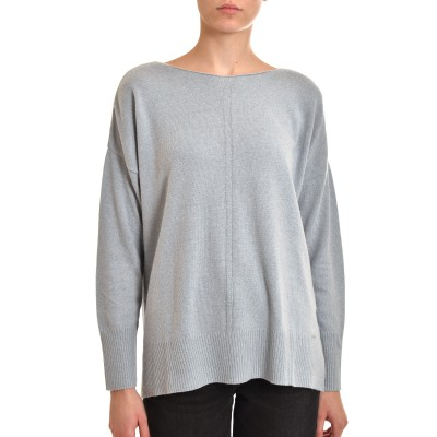 Aggel Sweater Oversized Cashmere Blend-Pearl Blue