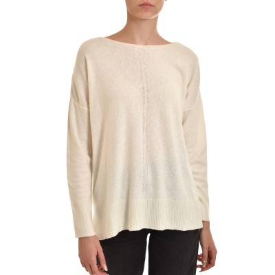 Aggel Sweater Oversized Cashmere Blend-Ivory