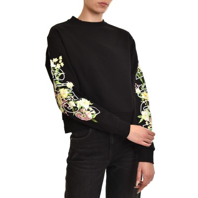 Guess Sweatshirt Soren Logo Embroidery-Black